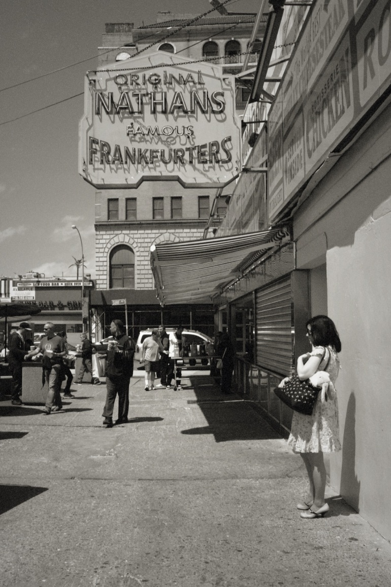 woman waiting at nathans 04262014