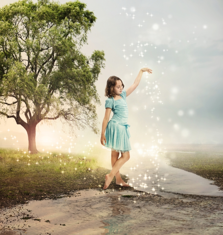 young girl magical